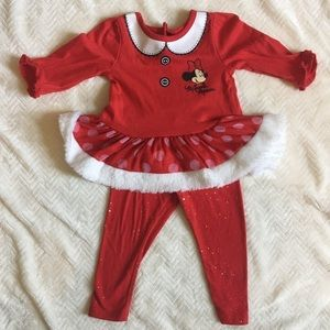 Other - Red sparkly Minnie Mouse Christmas outfit